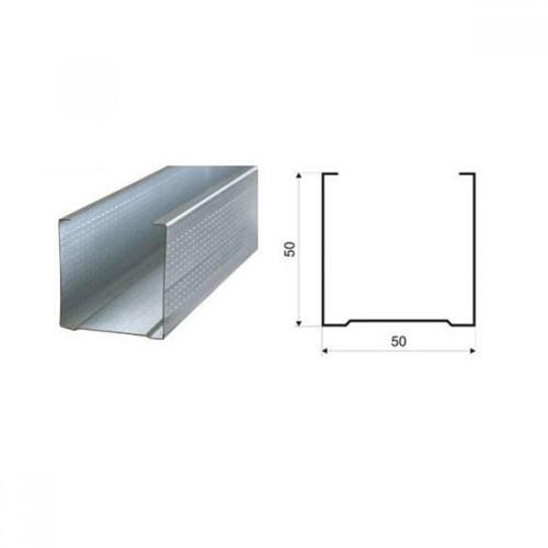 Профиль стоечный ПС  50x50х3000 мм /0,50/ (СПК)