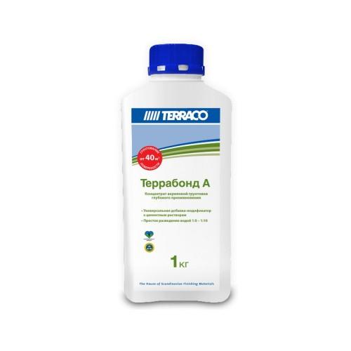 Грунтовка-добавка ТЕРРАБОНД А  1кг, Концентрированная добавка к сухим смесям (ТЕРРАКО)