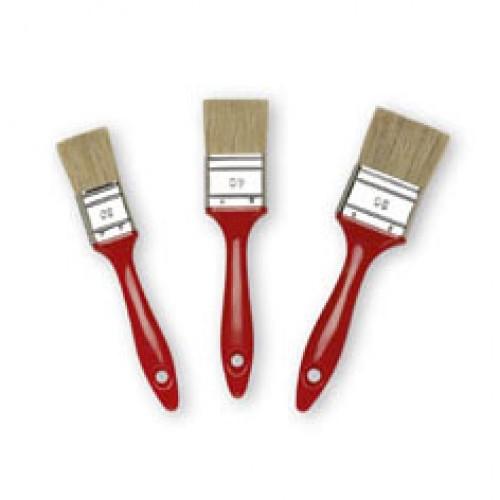 Кисть флейц., 40 мм, толщ.6, светл. щет., пласт. лак.ручка, арт.81284002