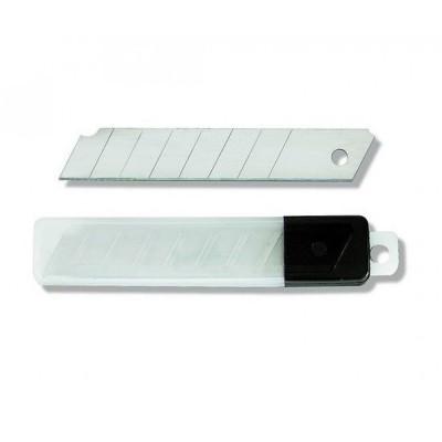 Запасные лезвия 18 мм 10 шт., 0,4 мм, в футляре, арт.95670137