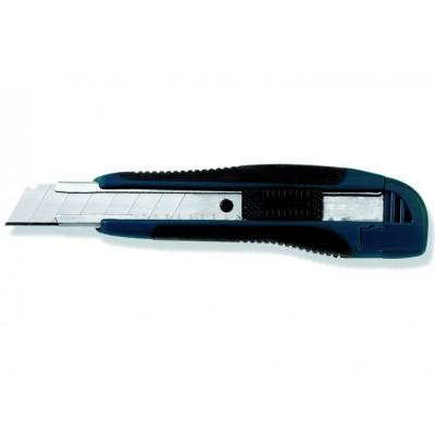 Нож с отлам.лезв, 18 мм пластм., с метал.вставкой, арт.95690002