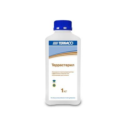Грунтовка по минеральным основаниям ТЕРРАССТЕРИЛ  1кг, биоцидный очищающий раствор (ТЕРРАКО)