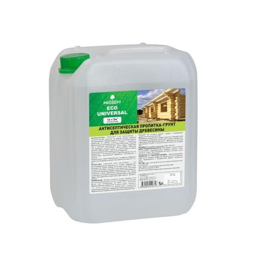 Просепт ECO UNIVERSAL (5л) - антисептик грунт для древесины для внутренних и наружных работ. Готовый раствор.