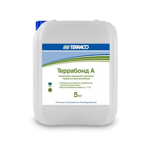 Грунтовка-добавка ТЕРРАБОНД А  5кг, Концентрированная добавка к сухим смесям (ТЕРРАКО)