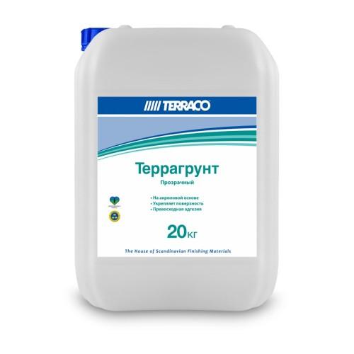 Грунтовка по минеральным основаниям ТЕРРАГРУНТ БЕЛЫЙ 20кг, для наружных работ проникающая (ТЕРРАКО)