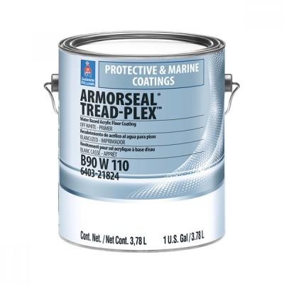Краска SW Armor-Seal Tread-Plex/Aрмор-Сил Трейд-Плэкс Акриловая краска для полов, для внутренних и наружных работ Грунт. белая 3.78 л B90W00110-16
