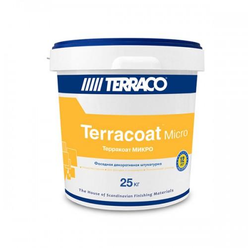 Рельефное штукатурное покрытие ТЕРРАКОАТ МИКРО ФАСАДНЫЙ, 25 кг,на акриловой основе для наружных работ, цвет белый