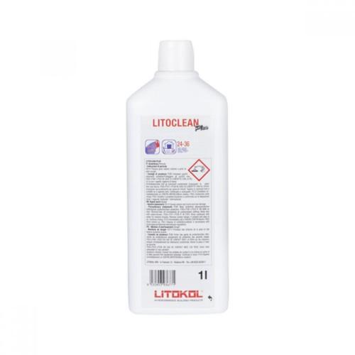 Жидкое чистящее средство LITOCLEAN+ 1гк. на основе кислоты преднзначен для удаления остатков цемента, известковой накипи темпера, розовый