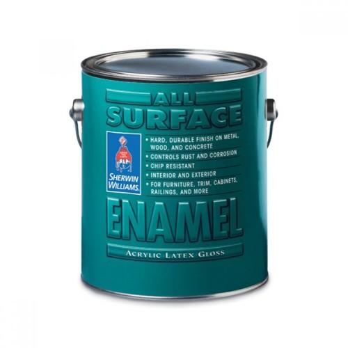 Эмаль SW ALLSURFACE EnamelLatexGloss ExtraWhite/Универсальная Латексная на водной основе антикоррозийная, глянец, ЭкстраБелая (3,8 л)
