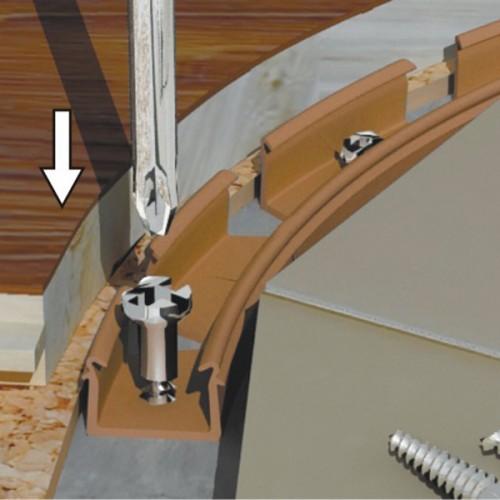 Планка монтажная для профиля Flex Line (3-15мм); 1,5 м