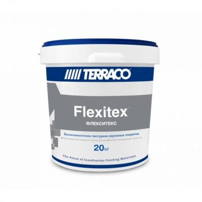 Декор.покрытие/Террако - Флекситекс, (20 кг) высокоэластичное акриловое покрытие для вн/нар.работ
