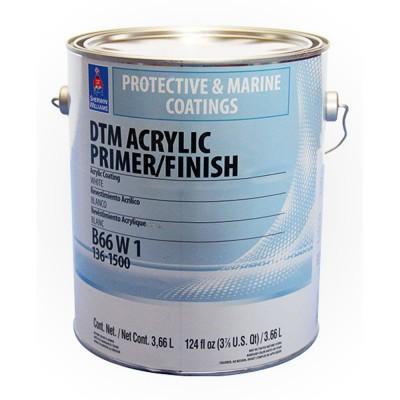 Грунт-Краска SW DTM AcrylicPrimerFinish ExtraWhite/Универсальная Акриловая по металлу антикоррозийная, матовая, Экстра Белая (3,78 л)