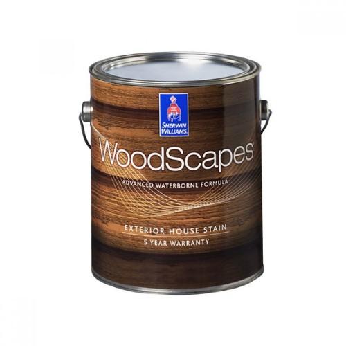Пропитка SW WoodScapes StainExteriorPolyurethane/Полиуретановая на водной основе для нар. работ по вертикальным поверхностям, полупрозрачная (3,78 л)