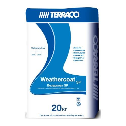 Гидроизоляция ВЕЗЕРКОАТ SP порошок для защиты от влаги большинства строительных поверхностей, 20 кг (Террако)