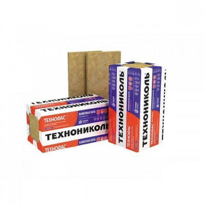 Плита минераловатная ТехноФАС 1200*600*100мм (0,216м3/3шт/2,16м2) (ТехноНИКОЛЬ)