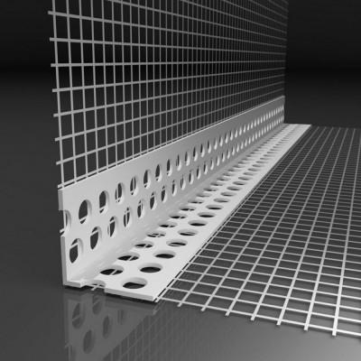 Профиль ПВХ угловой с армир. сеткой 10х15х2500мм (Россия)