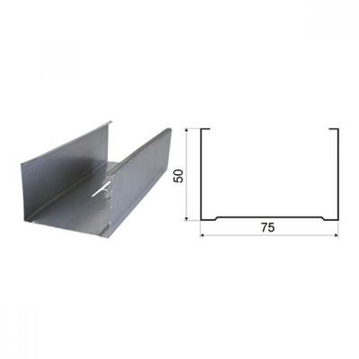 Профиль стоечный ПС  75x50х3000 мм /0,60/ (Кнауф)