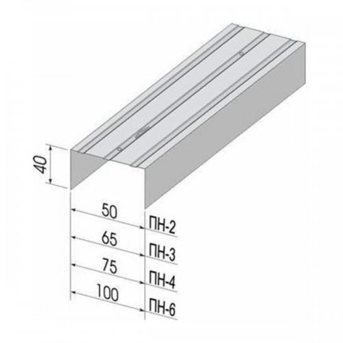 Профиль направляющий ПН  75x40х3000 мм /0,60/ (Кнауф)