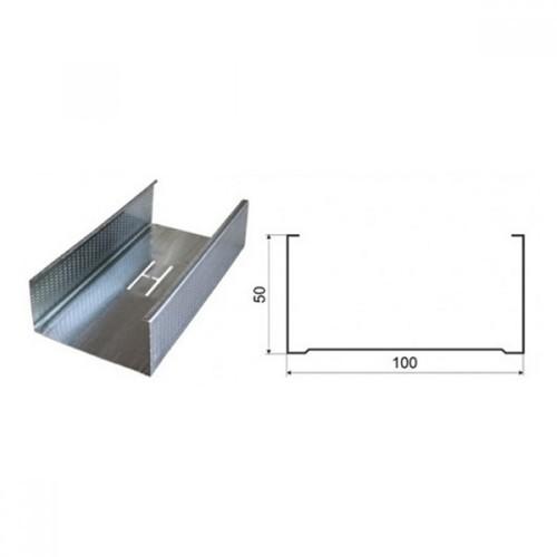 Профиль стоечный ПС 100x50х3000 мм /0,60/Кнауф (Россия)