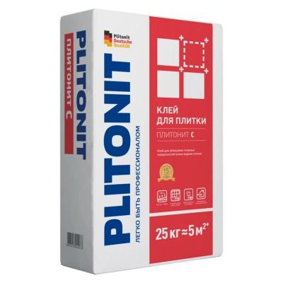 Клей ПЛИТОНИТ С Для облицовки сложных поверхностей всеми видами плитки, 25 кг, (Плитонит)