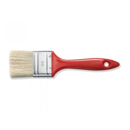 Кисть плоск., 20 мм, толщ.6, светл. щет., пласт. лак.ручка, арт.81282002