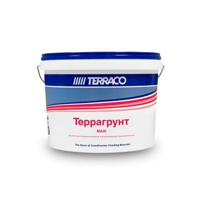 Грунтовка по минеральным основаниям ТЕРРАГРУНТ МАКСИ 10л, для внутренних работ проникающая (ТЕРРАКО)