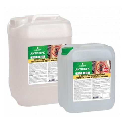 Просепт АНТИЖУК (10л)- антисептик универсальный против жуков и других насекомых. Готовый состав.