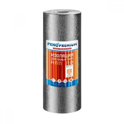 Пенотерм НПП ЛФ 2*1200*25  (+150°C) Рулонный тепло-пароизоляционный материал, ламинированный алюминиевой фольгой для бань и саун