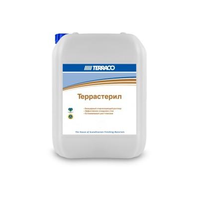 Грунтовка по минеральным основаниям ТЕРРАССТЕРИЛ  5кг, биоцидный очищающий раствор (ТЕРРАКО)