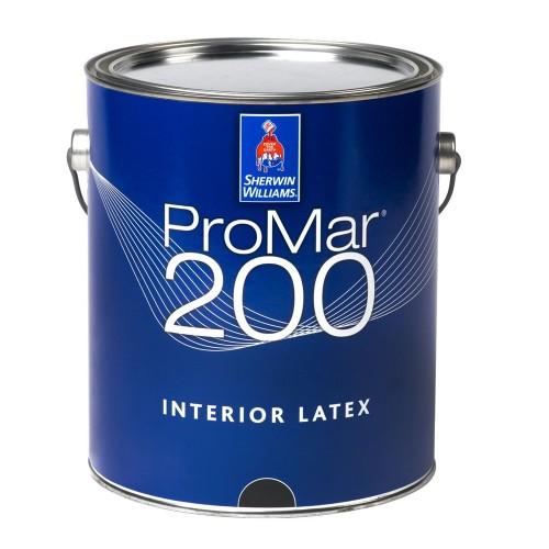 Краска SW PROMAR 200 InteriorLatexFlat ExtraWhite/Интерьерная Латексная Матовая на основе винил-акрила тиксотропная (Экстра Белая)/ 3,48л/В30W00251-16