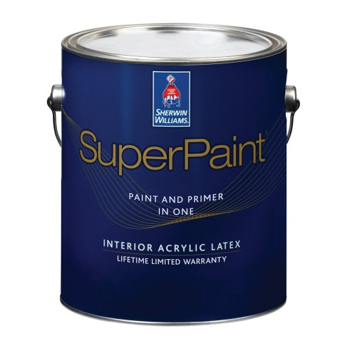 Краска SW SUPERPAINT InteriorLatexFlat ExtraWhite/Интерьерная Латексная Матовая на основе винил-акрила тиксотропная (Экстра Белая)/ 3,8л,/A86W151-16